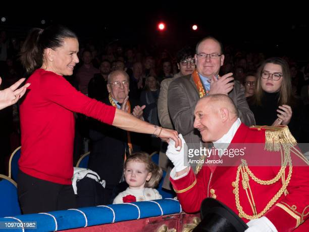 Princess Stephanie of Monaco Princess Gabriella Prince Jacques Prince Albert II of Monaco and Camille Gottlieb attend the 43rd International Circus...
