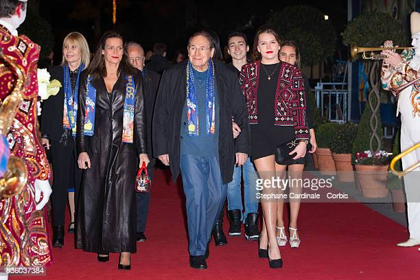 Princess Stephanie of Monaco Robert Hossein and Camille Gottlieb attend the 39th International Circus Festival of MonteCarlo on January 17 2015 in...