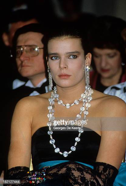 Princess Stephanie of Monaco visits Harrods department store in London on March 4, 1986.
