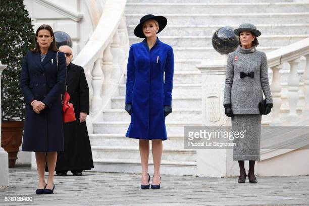 Princess Stephanie of MonacoPrincess Charlene of Monaco and Princess Caroline of Hanover attend the Monaco National Day Celebrations in the Monaco...