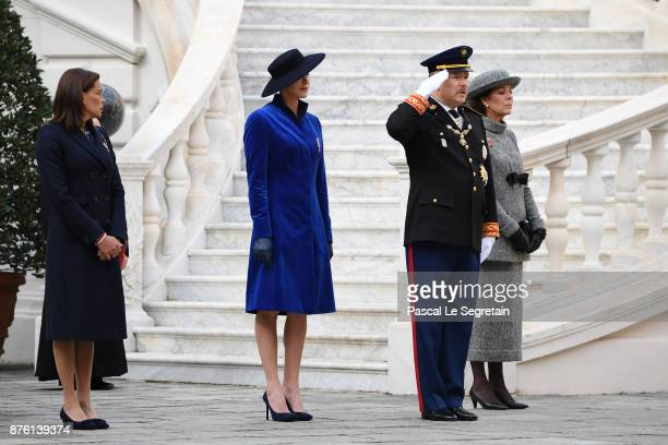 Princess Stephanie of MonacoPrincess Charlene of MonacoPrince Albert II of Monaco and Princess Caroline of Hanover attend the Monaco National Day...