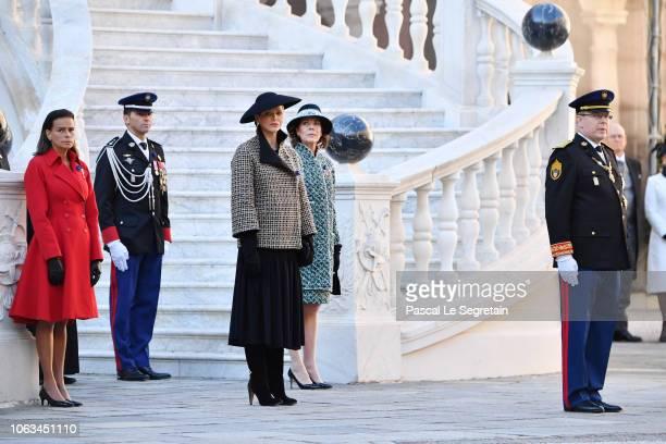 Princess Stephanie of MonacoPrincess Charlene of MonacoPrincess Caroline of Hanover and Prince Albert II of Monaco attend Monaco National Day...