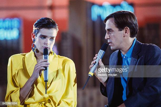 Princess Stéphanie of Monaco makes a guest appearance on the set of television show Scoop à la Une presented by Thierry Ardisson