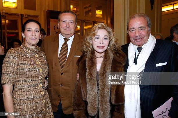 Princess Tania de Bourbon Parme her husband Louis Arnaud L'Herbier Grace de Capitani and Plamen Roussev attend the Heart Gala Evening to benefit the...