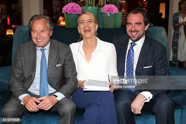Princess Tatiana of Greece and her husband Prince Nikolaos of Greece and Publisher Hendrik teNeues during the presentation of the book 'Zu Gast in...