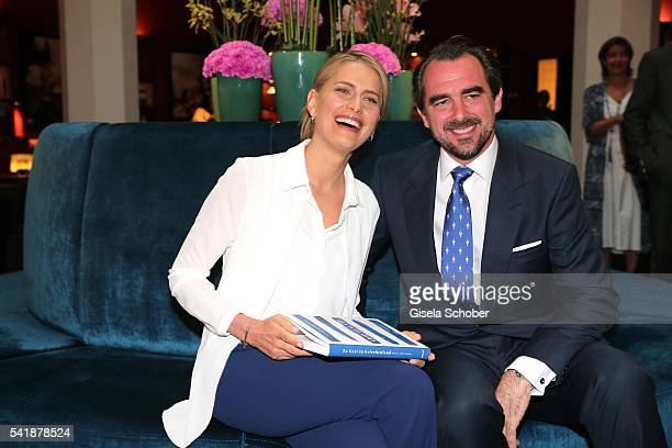 Princess Tatiana of Greece and her husband Prince Nikolaos of Greece during the presentation of her book 'Zu Gast in Griechenland Rezepte Kueche...