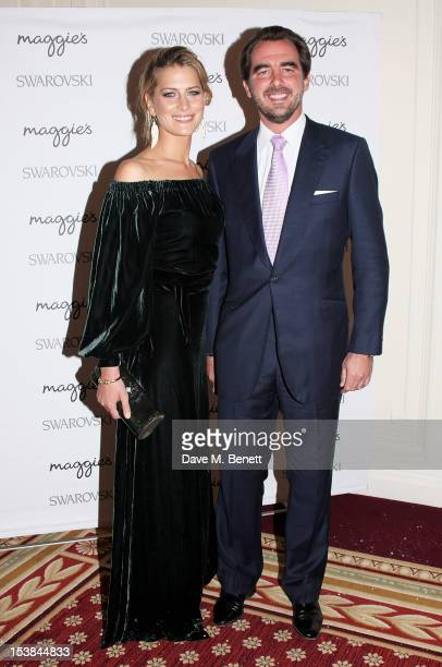 Princess Tatiana of Greece and Prince Nikolaos of Greece attend Maggie's Autumn Party supported by Swarovski at the Mandarin Oriental Hyde Park on...