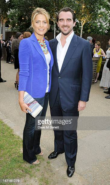 Princess Tatiana of Greece and Prince Nikolaos of Greece attend The Serpentine Gallery Summer Party sponsored by Leon Max at The Serpentine Gallery...