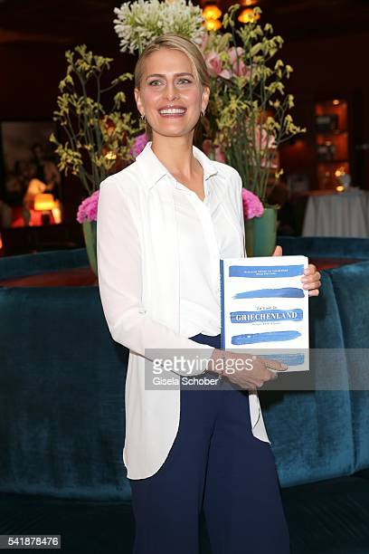 Princess Tatiana of Greece during the presentation of her book 'Zu Gast in Griechenland Rezepte Kueche Kultur' at 'The Charles' Hotel on June 20 2016...