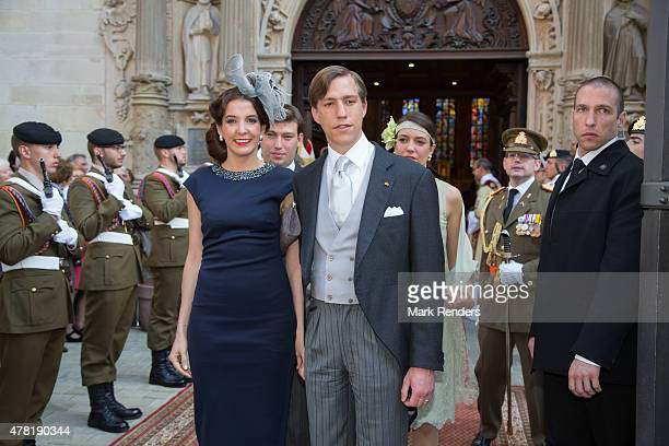 Princess Terry and Prince Louis of Luxembourg on June 23 2015 in Luxembourg Luxembourg