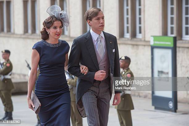Princess Tessy and Prince Louis of Luxembourg assist National Day on June 23 2015 in Luxembourg Luxembourg
