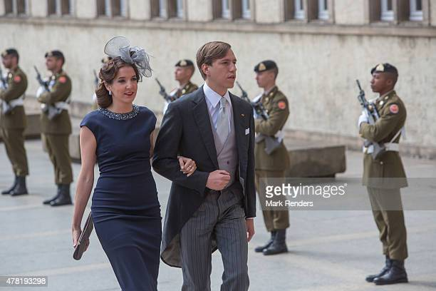 Princess Tessy and Prince Louis of Luxembourg assist National Day on June 23, 2015 in Luxembourg, Luxembourg.