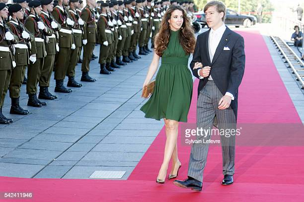 Princess Tessy and Prince Louis of Luxembourg celebrate National Day at Philarmonie on June 22 2016 in Luxembourg Luxembourg