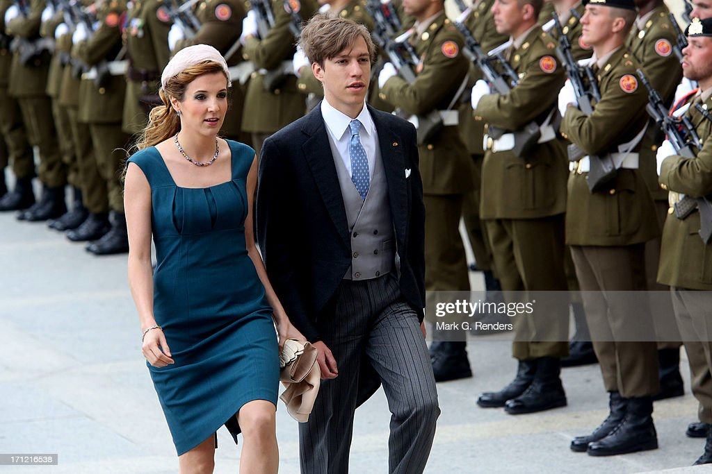Princess Tessy of Luxembourg and Prince Louis of Luxembourg celebrate National Day on June 23, 2013 in Luxembourg, Luxembourg.