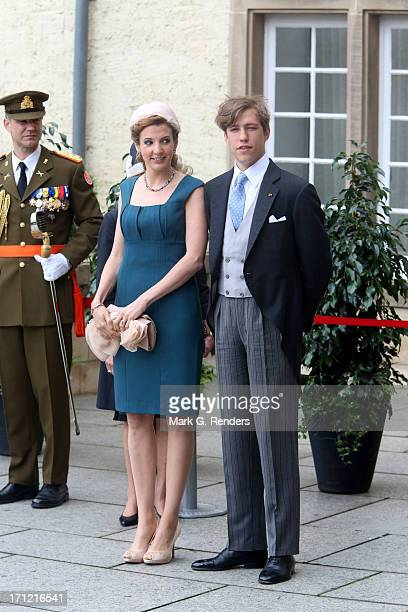 Princess Tessy of Luxembourg and Prince Louis of Luxembourg celebrate National Day on June 23 2013 in Luxembourg Luxembourg