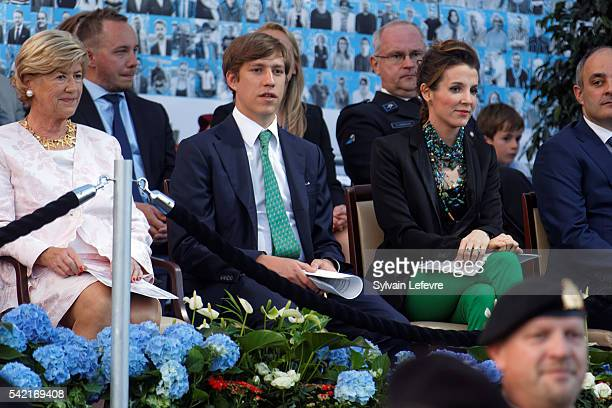 Princess Tessy of Luxembourg and Prince Louis of Luxembourg celebrate National Day on June 21 2016 in Luxembourg Luxembourg