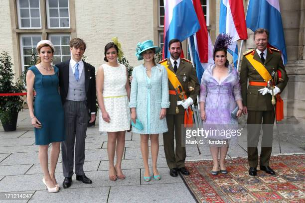 Princess Tessy of Luxembourg, Prince Louis of Luxembourg, Princess Alexandra of Luxembourg, Princess Stephanie of Luxembourg, Prince Guillaume of...