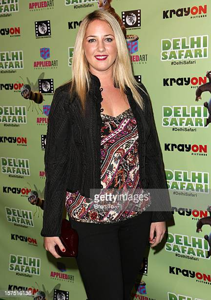 Princess Theodora attends 'Delhi Safari' Los Angeles premiere at Pacific Theatre at The Grove on December 3 2012 in Los Angeles California