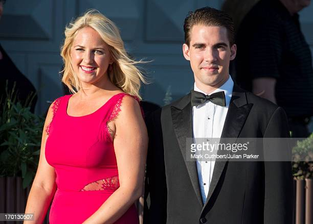 Princess Theodora of Greece and her brother Prince Philippos of Greece attend a private dinner on the eve of the wedding of Princess Madeleine and...