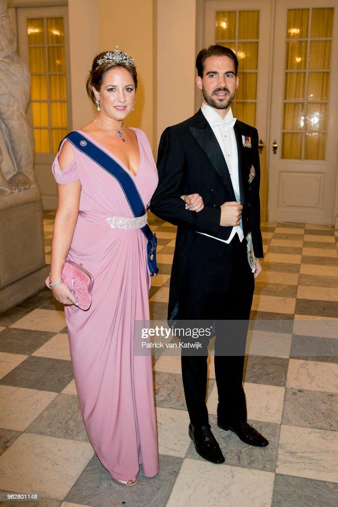 Crown Prince Frederik of Denmark Holds Gala Banquet At Christiansborg Palace : Nachrichtenfoto