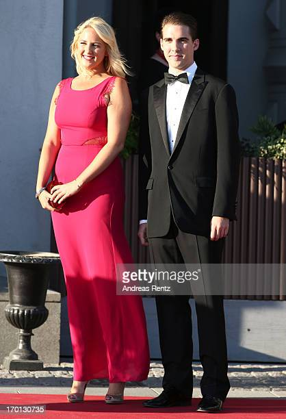 Princess Theodora of Greece and Prince Philippo of Greece arrive at a private dinner on the eve of the wedding of Princess Madeleine and Christopher...