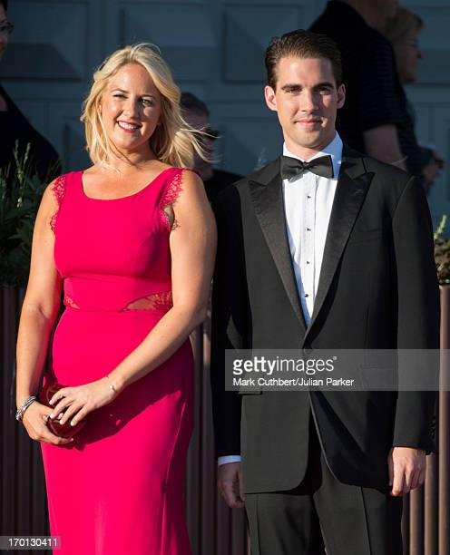 Princess Theodora of Greece and Prince Philippos of Greece attend a private dinner on the eve of the wedding of Princess Madeleine and Christopher...