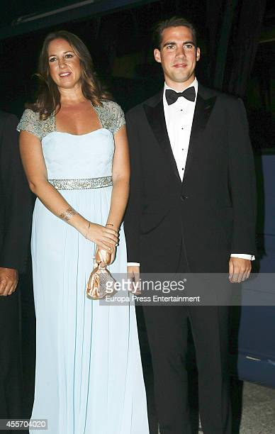 Princess Theodora of Greece and Prince Philippos of Greece attend private dinner to celebrate the Golden Wedding Anniversary of King Constantine II...