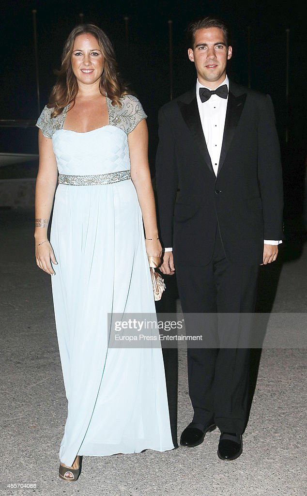 Princess Theodora of Greece and Prince Philippos of Greece attend private dinner to celebrate the Golden Wedding Anniversary of King Constantine II and Queen Anne Marie of Greece at Yacht Club on September 18, 2014 in Athens, Greece.