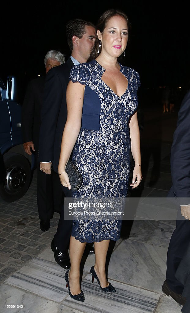 Princess Theodora of Greece and Prince Philippos of Greece attend the Golden Wedding Anniversary of King Constantine II and Queen Anne Marie of Greece at Acropolis Museum on September 17, 2014 in Athens, Greece.