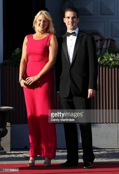 Princess Theodora of Greece and Prince Philippos of Greece attends a private dinner on the eve of the wedding of Princess Madeleine and Christopher...