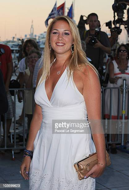 Princess Theodora of Greece arrives at Poseidon Grace Hotel on August 24 2010 in Spetsai Greece The small greek Island three hours from Athens is...