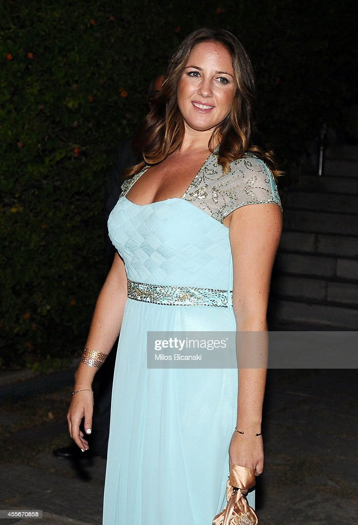 Princess Theodora of Greece arrives for a private dinner organized by former King Constantine II of Greece and former Queen Anne-Marie to celebrate their Golden wedding anniversary at the Yacht Club of Greece in Piraeus, Greece, 18 September 2014.