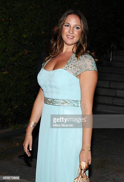 Princess Theodora of Greece arrives for a private dinner organized by former King Constantine II of Greece and former Queen AnneMarie to celebrate...