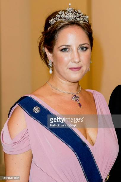 Princess Theodora of Greece during the gala banquet on the occasion of The Crown Prince's 50th birthday at Christiansborg Palace Chapel on May 26...