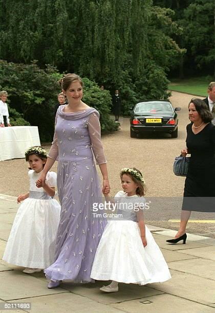 Princess Theodora Taking Fellow Bridesmaids Princess Mariaolympia And Princess Mafalda To The Wedding Reception For Princess Alexia Of Greece And...