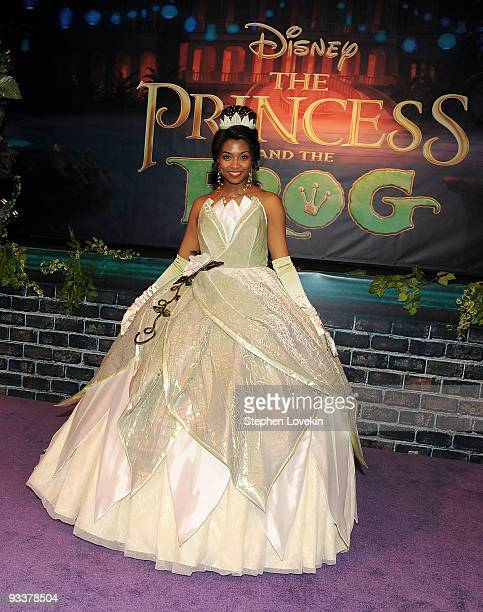 Princess Tiana attends the opening of The Princess and The Frog the ultimate disney experience at the Roseland Ballroom on November 24 2009 in New...