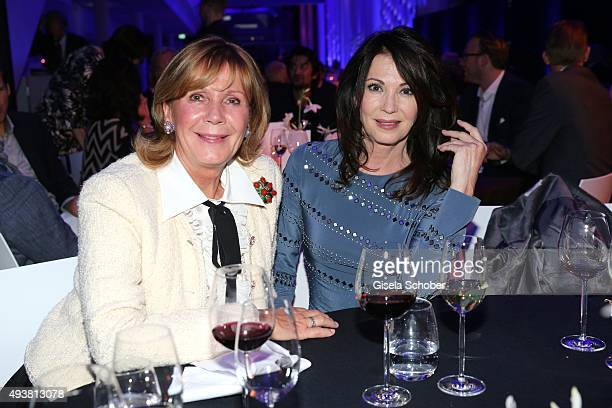 Princess Ursula Uschi von Bayern and Iris Berben during the presentation of the new BMW 7 Series on October 22 2015 in Munich Germany