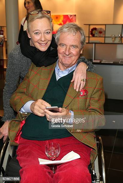 Princess Ursula Uschi zu Hohenlohe and her husband Prince Peter zu Hohenlohe during the 'Artists for kids' charity auction at Galerie Thomas Modern...