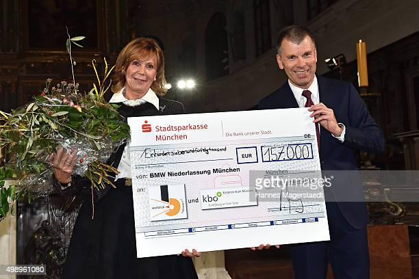 Princess Ursula von Bayern and Peter Mey during the 20th BMW advent charity concert at Jesuitenkirche St Michael on November 27 2015 in Munich Germany