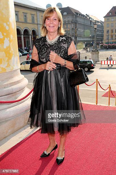 Princess Uschi Ursula of Bavaria during the premiere of the opera 'Arabella' on July 6 2015 in Munich Germany