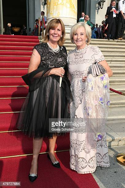 Princess Uschi Ursula of Bavaria Inge WredeLanz during the premiere of the opera 'Arabella' on July 6 2015 in Munich Germany