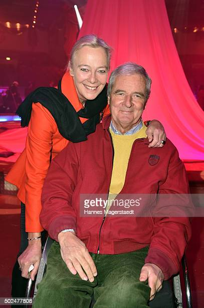 Princess Uschi zu Hohenlohe and Prince Peter zu Hohenlohe during the 'Circus Krone Christmas Show 2015' at Circus Krone on December 25 2015 in Munich...