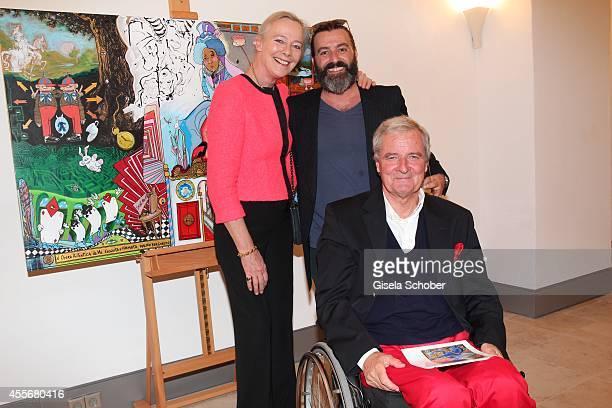 Princess Uschi zu Hohenlohe Artist Mauro Bergonzoli and Prince Peter zu Hohenlohe attend the Exhibition Opening of Mauro Bergonzoli at Bayerisches...