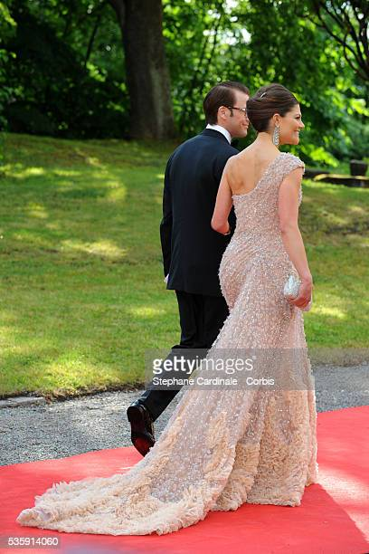 Princess Victoria and fiance Daniel Westling arrive for the Government PreWedding Dinner for Crown Princess Victoria of Sweden and Daniel Westling at...