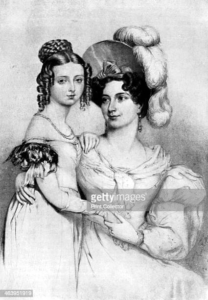 Princess Victoria and her mother in 1834 The princess aged about 15 with her mother Princess Victoria Mary Louisa von SaxeCoburg Queen Victoria was...