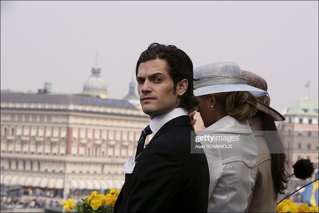 H.M King Carl Gustav's sixtieth birthday in Drottningholm, Stockholm, Sweden on April 30, 2006. : News Photo