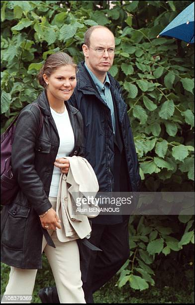 Princess Victoria and Prince Albert of Monaco in Sweden on June 19 2001