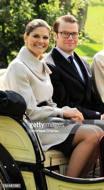 EMBER 27 EMBER 27 TEMBER 27 Princess Victoria and Prince Daniel of Sweden attend a visit at Domaine de la Grange at SavignyleTemple on September 27...