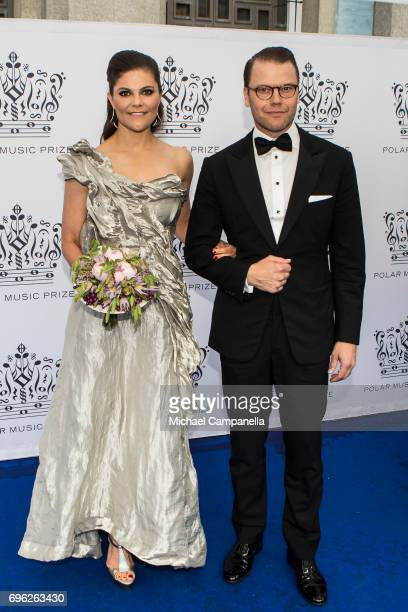 Princess Victoria and Prince Daniel of Sweden attend an award ceremony for the Polar Music Prize at Konserthuset on June 15, 2017 in Stockholm,...