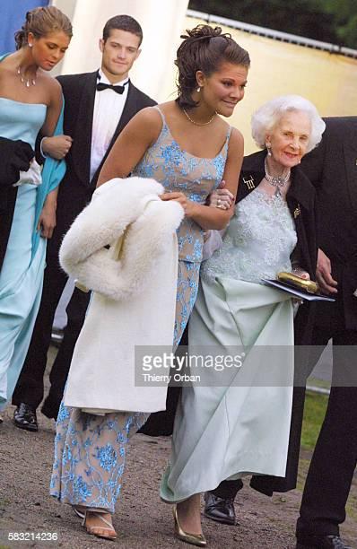 Princess Victoria and Princess Lilian, gala at Drottningholm castle.